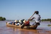 Řeka Tsiribihina pirogou