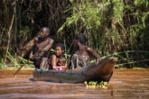 Řeka Tsiribihina - piroga
