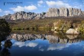 Jezírko u kempu Andranolava, národní park Andringitra