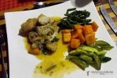 Večeře v hotelu (bílá ryba a zelenina)