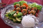 Krevetové špízy s rýží