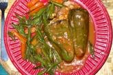 Papriky plněné masem s fazolkami