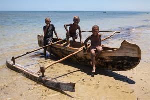 Chlapci na jihozápadě Madagaskaru