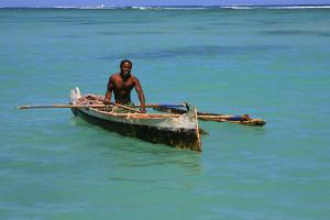 Rybář - jihozápadní Madagaskar