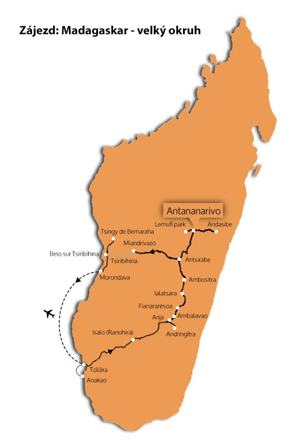 Madagaskar velký okruh